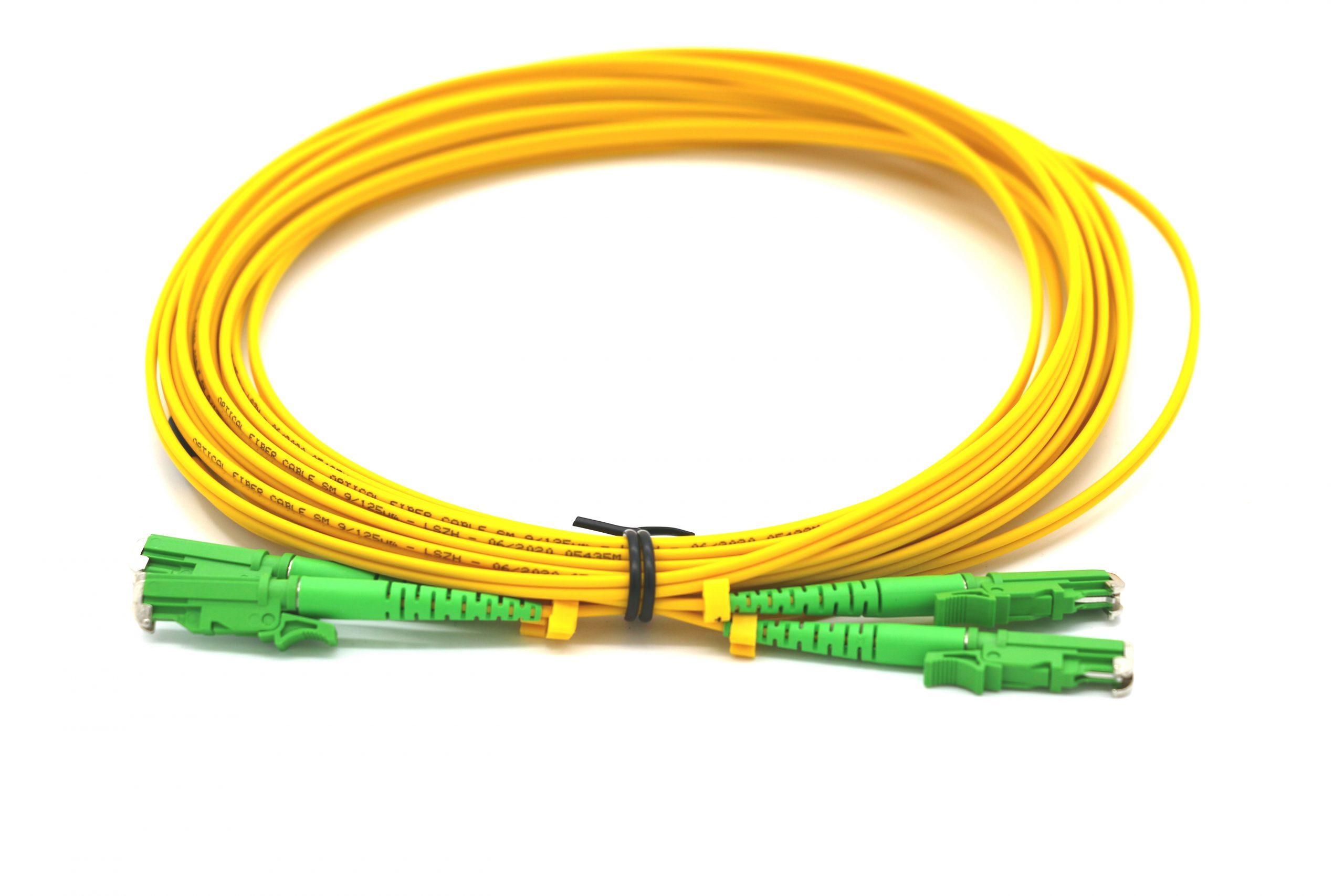 eLan E2000/APC-E2000/APC duplex patch cord OS2, 15m