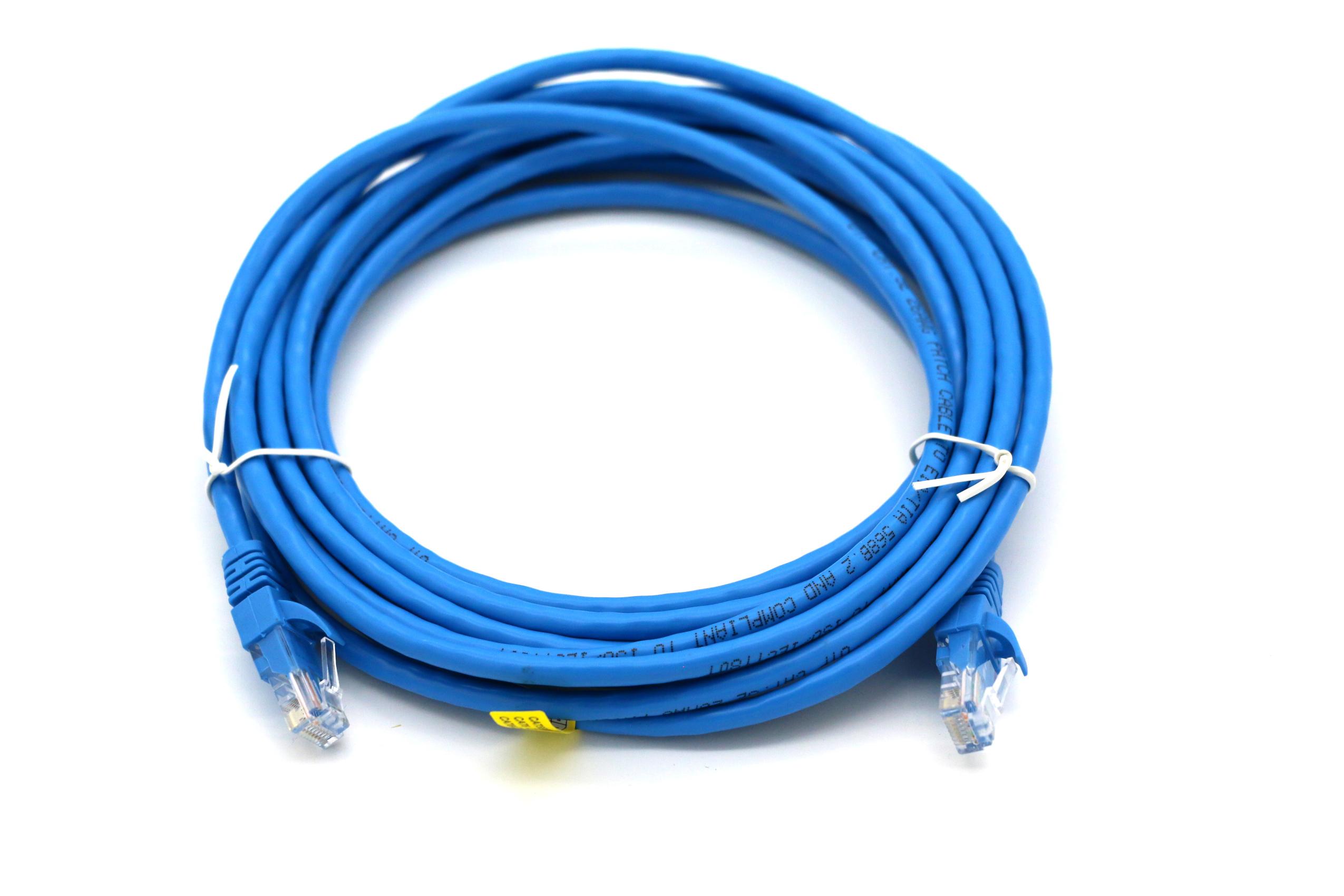 eLan Category 5e U/UTP patch cord blue RJ45, 5m